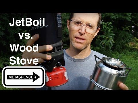 Wood Burning Camp Stove vs. Jet Boil - YouTube