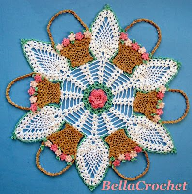 May Baskets and Pineapples Doily