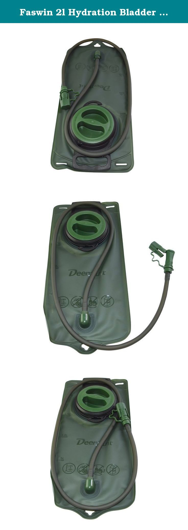 Faswin 2l Hydration Bladder Olive Drab, Water Reservoir for Running, Hiking, Climbing, Military Backpack, Marching, Outdoor Event, Body Armor Hydro System. Product Features: -Food grade TPU material, Taste-free and BPA-free, with SGS and FDA certification. - Fits Most Hydration Backpacks-Molle & Tactical Vests, Use As A Replacement Or For Adding Hydration To A Compatible Pack. - Superior Quality - A Favorite With Military, Law Enforcement, Hunters, Hikers And Outdoor Enthusiasts. - Good...