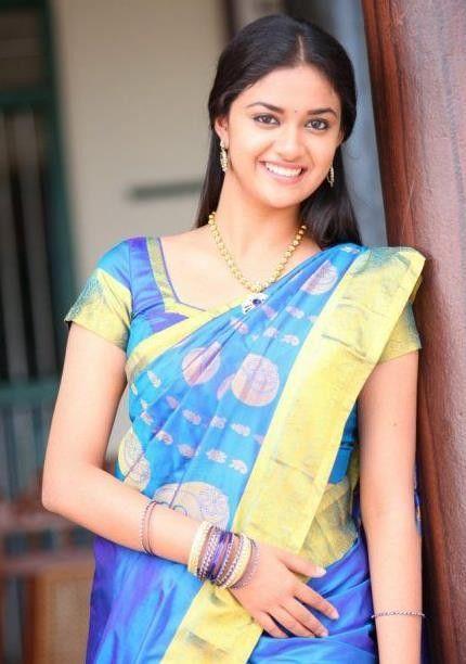 Keerthi Suresh Hot in Saree Photos