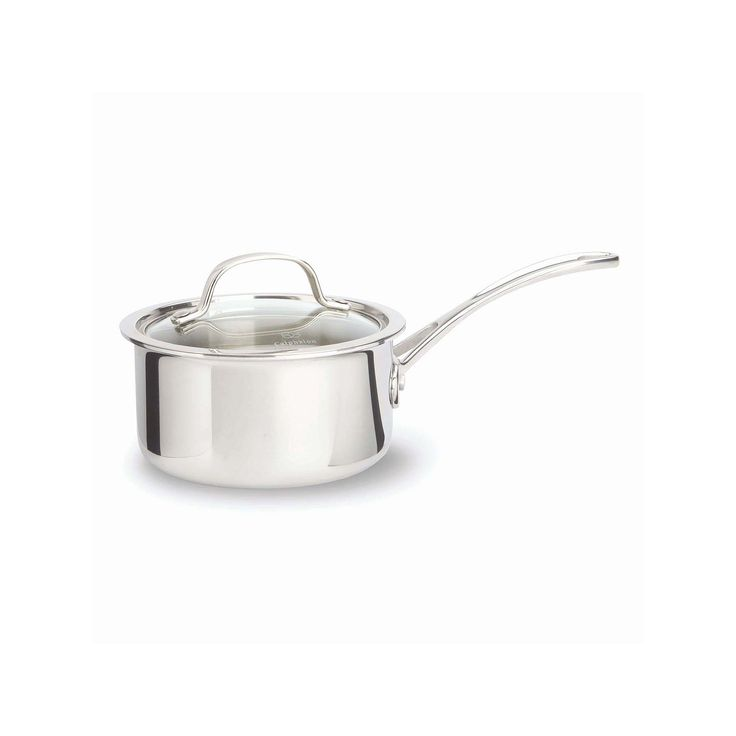 Calphalon Triply Stainless Steel 1.5-qt. Covered Saucepan, Grey