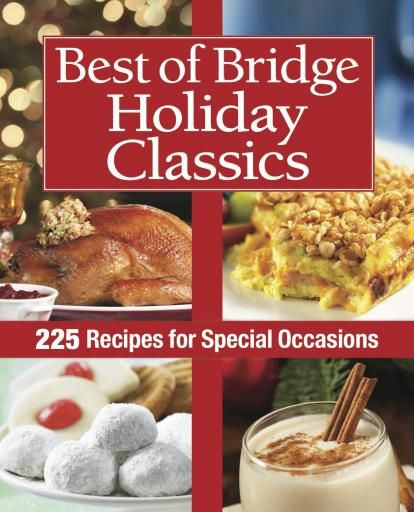 Now available for the first time, the definitive collection of holiday recipes from the ladies of Bridge.  Due to overwhelming interest, we've compiled a collection of the Bridge ladies' favorite holiday recipes, as well as some new recipes that are sure to become instant holiday classics. The best roasts and other special entrées for your celebration are here, along with fabulous recipes for everything from holiday buffets and potlucks to festive libations and treats.