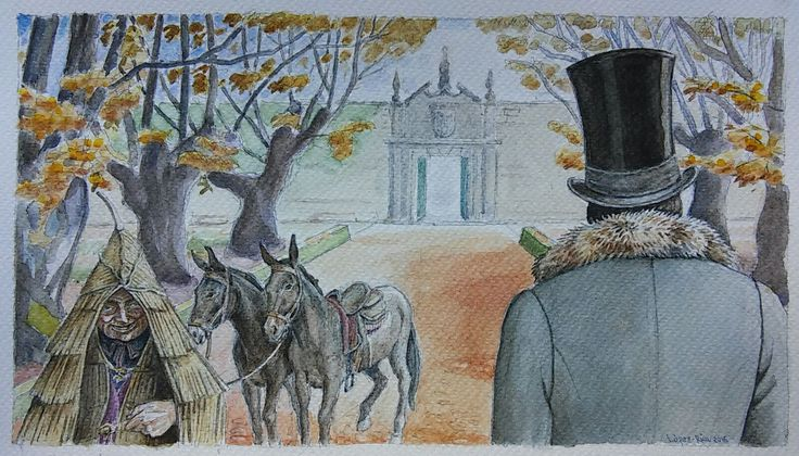 #Autumn Sonata. The #Marquess of Bradomín arrives to the Brandeso Palace. #Valle-Inclán. 2016