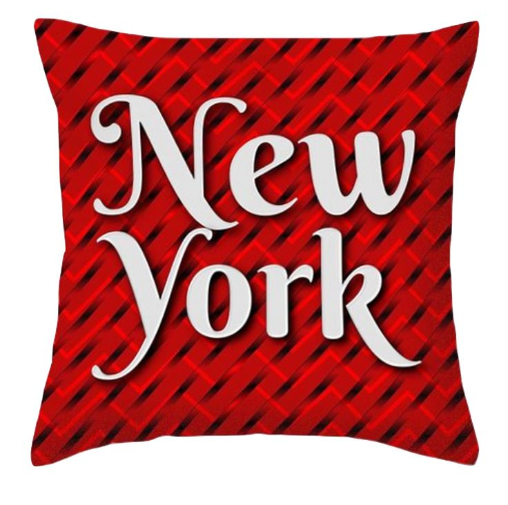 Sitting proud in my new collection of New York cushions is this red, white and black. A classic color combo of colours. Can you see this piece of art having a place in your home decor?