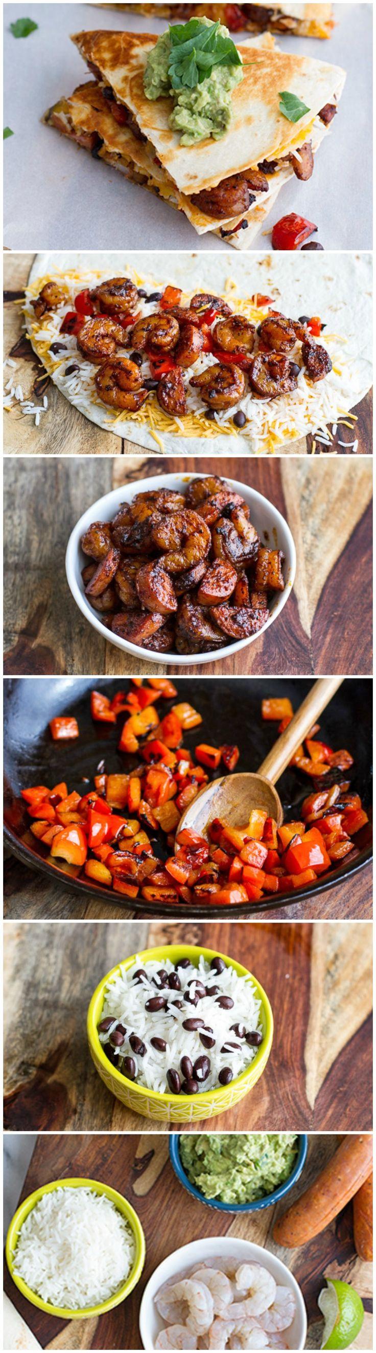 Spicy Cajun Shrimp Quesadillas