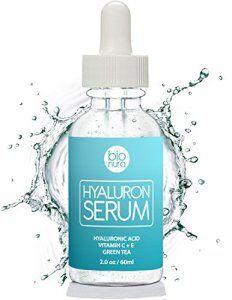 La meilleure Acide Hyaluronique Sérum Hydratant pour le visage contient Vitamine C + thé vert + Vitamine E. Prouvé Pour Réduire Les Rides…