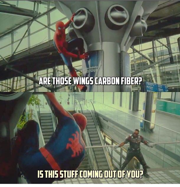 Spider-Man and Falcon