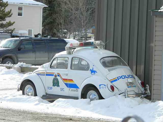 Whitehorse, Yukon RCMP Classic VW Beetle by Canadian Emergency Photographer, via Flickr