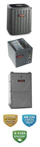 3 Ton 18 Seer Amana 70K Btu 95% Afue Dual Fuel System - ASZC180361 - CAPF3743C6 - AMVC950704CX - TX3N4 by Amana. $4589.00. 2 Stage Communicating Heat Pump with 2 Stage Variable Speed Communicating Gas Furnace (R-410A) - Dual Fuel split air conditioning system. Includes gas furnace, heat pump and matching coil. Provides air conditioning, gas heat and electric heat.