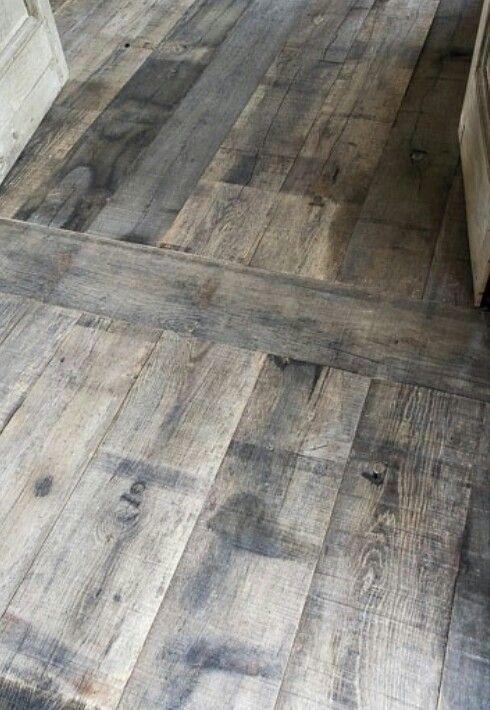 Kitchen floor, gray wooden floors