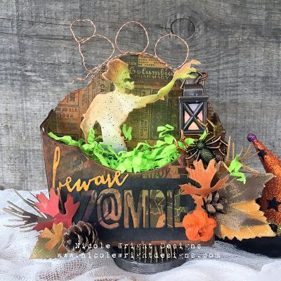 eileen hulls twist and style tool from sizzix makes it easy to twist wire ribbon raffia and more look inside for twist and style inspiration - Halloween Diorama Ideas