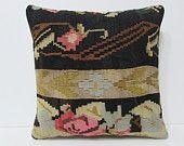 20x20 kilim pillow 20x20 floral decorative pillow floral throw pillow floral cushion large kilim pillow oversized decorative pillow 24060
