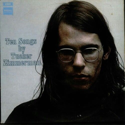"""((TONY VISCONTI -Mellotron & Sitar)) TUCKER ZIMMERMAN """"Ten Songs By"""" 1969 EMI-Regal Zonophone. Always in Bowie's top ten LPs & really informed """"Hunky Dory"""".. A Folk singer from the US doin'Baroque Pop mixed w/Buddy Holly & Donovan if he was dark & gritty. Tony Visconti on bass & stellar production + Rick Wakeman, Shawn Phillips & Aynsley Dunbar. """"October Mornings"""" & """"Running Running From Moment to Moment""""rule.  RONNO ((Mick Ronson & Co)) covers his """"4th Hour of My Sleep"""" in 1971 on Vertigo."""