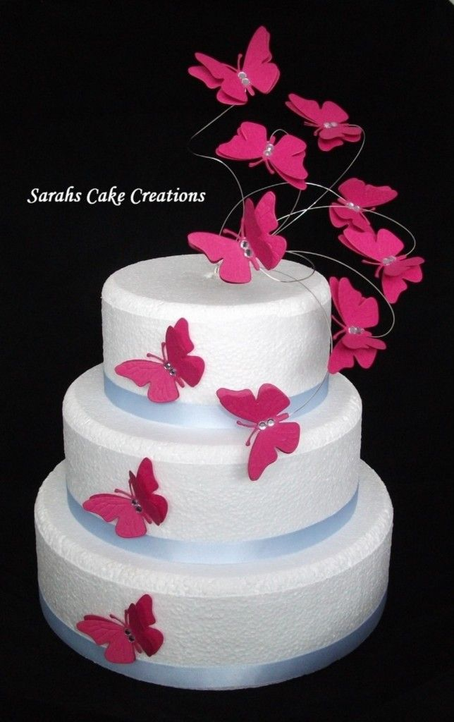 Cake Decor Butterfly : Butterfly Flutter Cake Topper Set - Wedding Birthday ...