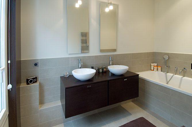 Decoraci n del cuarto de ba o ba os y muebles - Salle de bain chocolat et beige ...
