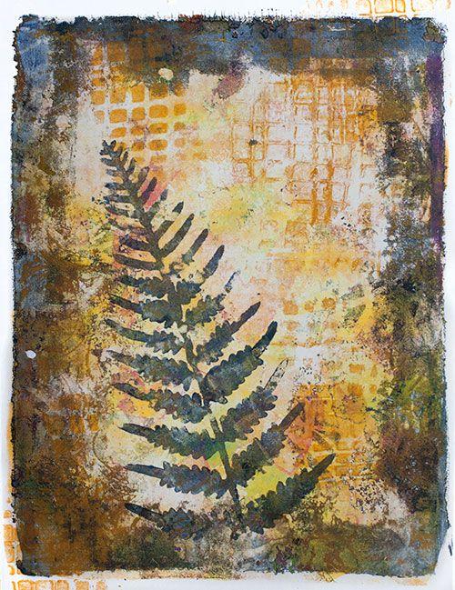 Gel printing with Darkroom Door stencils - Rachel Greig