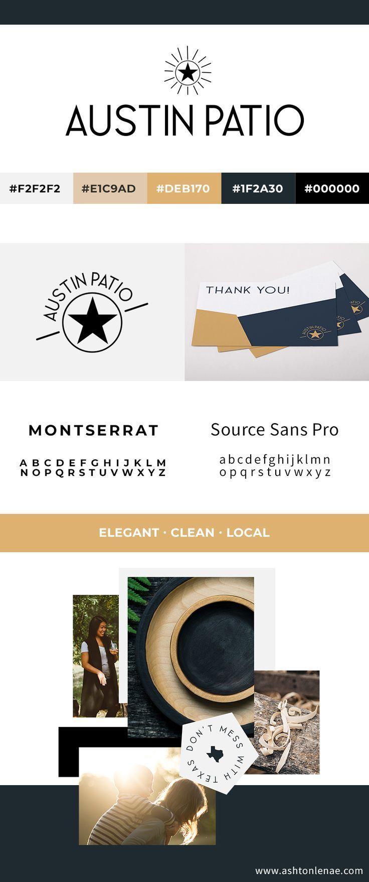 Brand Identity And Website Design For Austin Patio Local Texas Design Inspiration Star Logo In 2020 Branding Design Inspiration Website Design Elegant Website Design