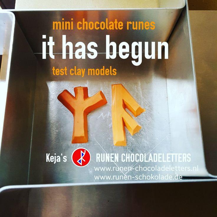 THE MAKING OF THE MINI CHOCOLATE RUNES HAS BEGUN | Test Clay Models #runes #runen #chocolate #chocolade #schokolade #minis #chocoladeletters