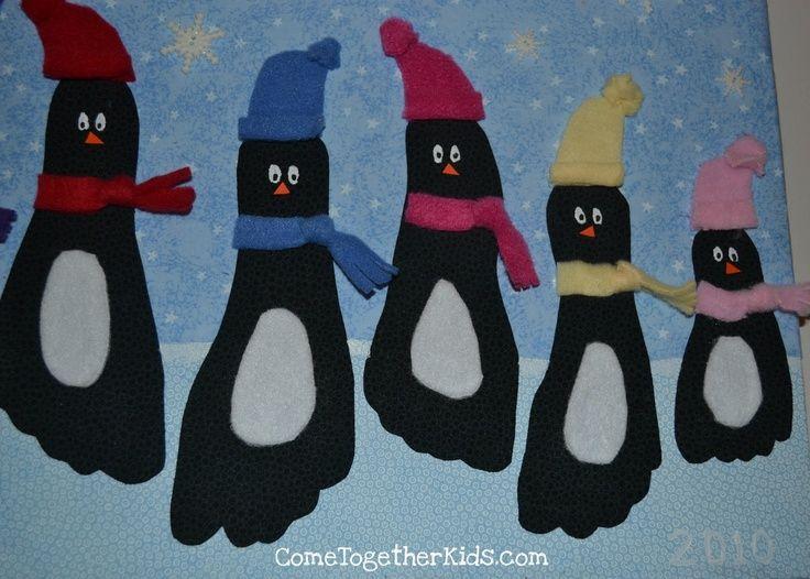 kids+winter+crafts | Winter penguin craft - kids' feet! | Christmas