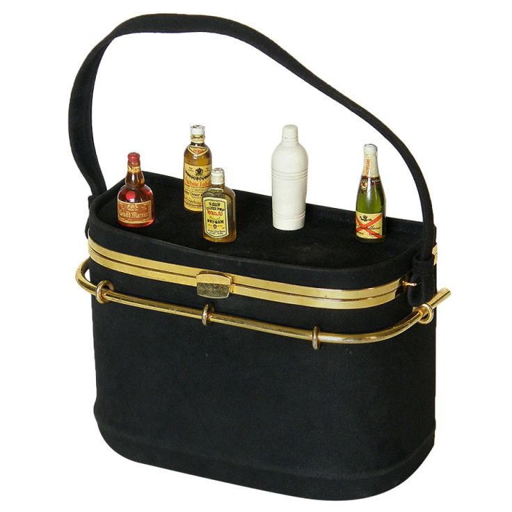 Anne-Marie Cocktail Bar Handbag | From a collection of rare vintage handbags and purses at http://www.1stdibs.com/fashion/accessories/handbags-purses/