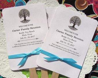 Family Reunion Fans  Family Reunion Favor  by AbbeyandIzzieDesigns