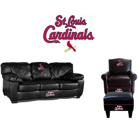 Genial St. Louis Cardinals Leather Furniture Set At Www.SportsFansPlus.com