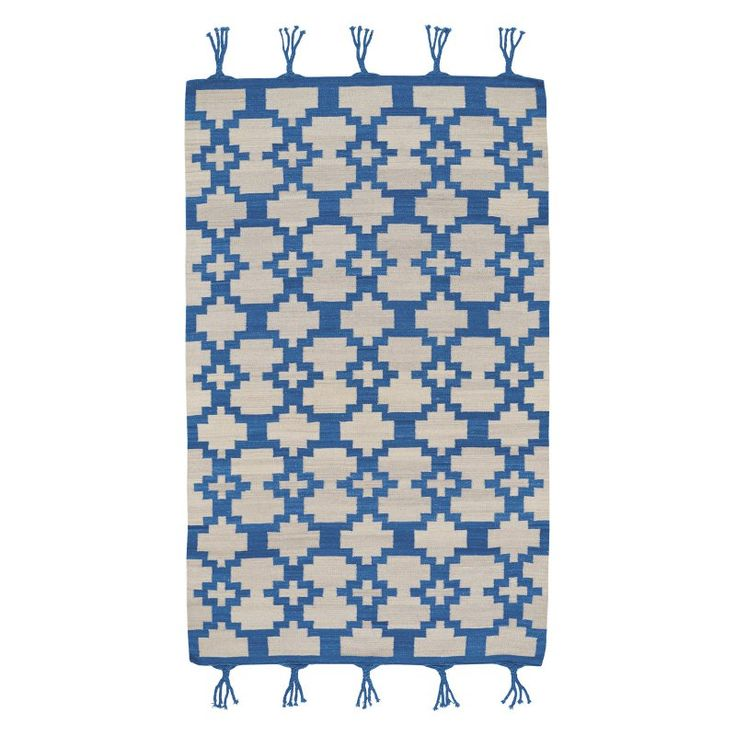Hyland 3643 Flat Woven Rectangle Area Rug - Blue