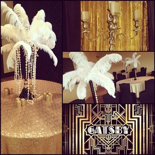 Here's a sneak peek of one prom setup. #unicodecor #grad #gatsby