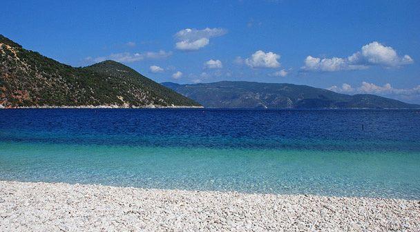 "Chorgota beach - the famous beach from the movie ""Captain Corelli's Mandolin"", located in Erissos, Kefalonia. #Greece #Kefalonia #Terrabook #GreekIslands #Travel #GreeceTravel #GreecePhotografy #GreekPhotos #Traveling #Travelling #Holiday #Summer"