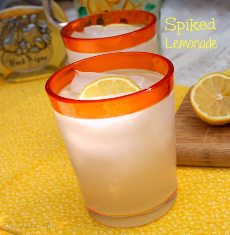 Three ingredients needed for this Spiked Lemonade Recipe! Perfect for a fuss free party!