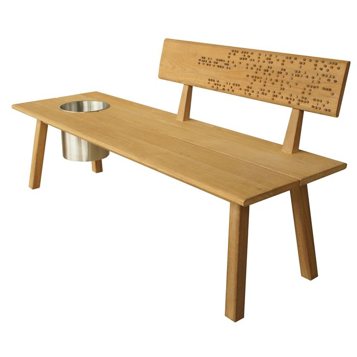 Tiera Bench...with Braille Wording...outdoor Wellness Concept.. Outdoor  FurnitureBenchesWellness