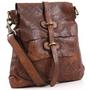 Campomaggi Lavata Shoulder Bag Leather cognac 28 cm - C1256VL-1702 - Designer Bags Shop - wardow.com