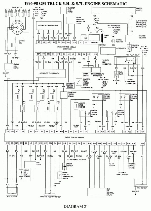 ecm pin diagram for 1998 chevy truck and chevy silverado