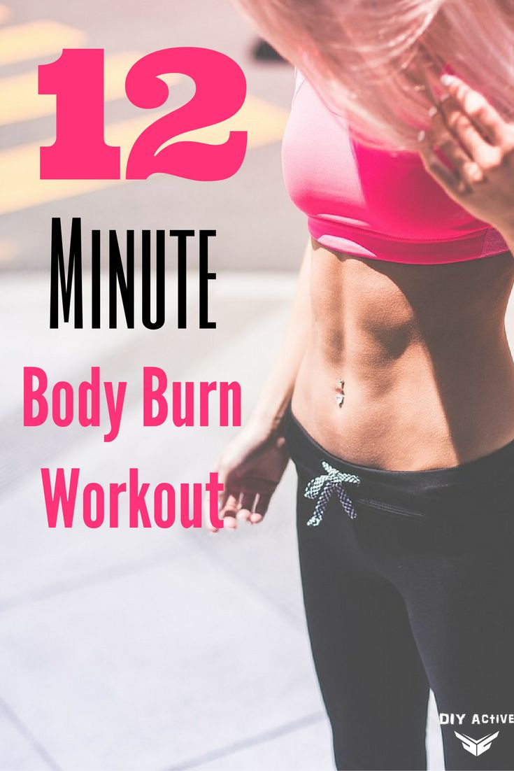 12 Minute Body Burn Workout via @DIYActiveHQ #fitness