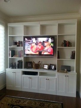 Media and entertainment center with lots of book storage - traditional - media storage - jacksonville - More Space Place