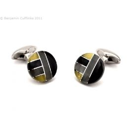 Babette Wasserman - Plaid Grey Cufflinks by Babette Wasserman