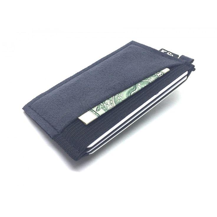 Ultra Slim 4 compartment Minimalist Front Pocket Wallet & Card Holder 'Ultraz-4 Grey'