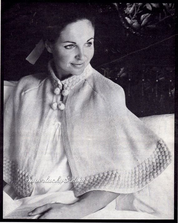 Vintage Bed Jacket PDF knitting pattern download by Superlucky8