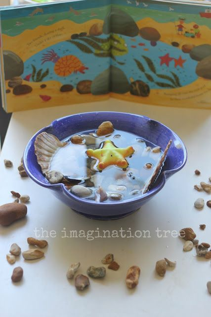 Rock Pool Sensory Small World Play - The Imagination Tree- perhaps a larger rock pool area outdoors