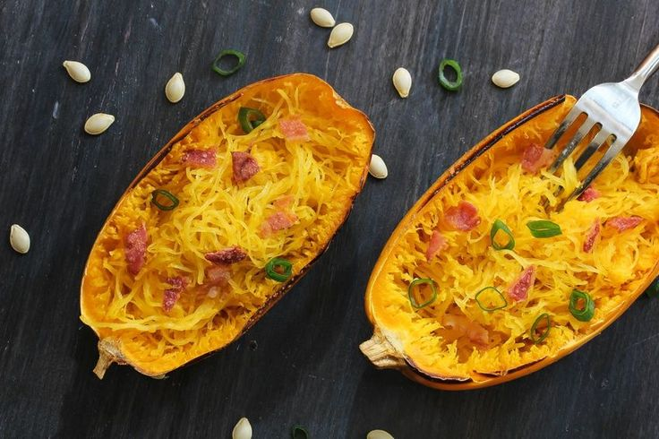 Low-Carb-Pasta: Spaghettikürbis alla Carbonara | eatsmarter.de