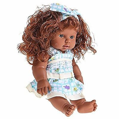 African American Talking Baby Dolls for Toddlers Full Vinyl Silicone Body 12""