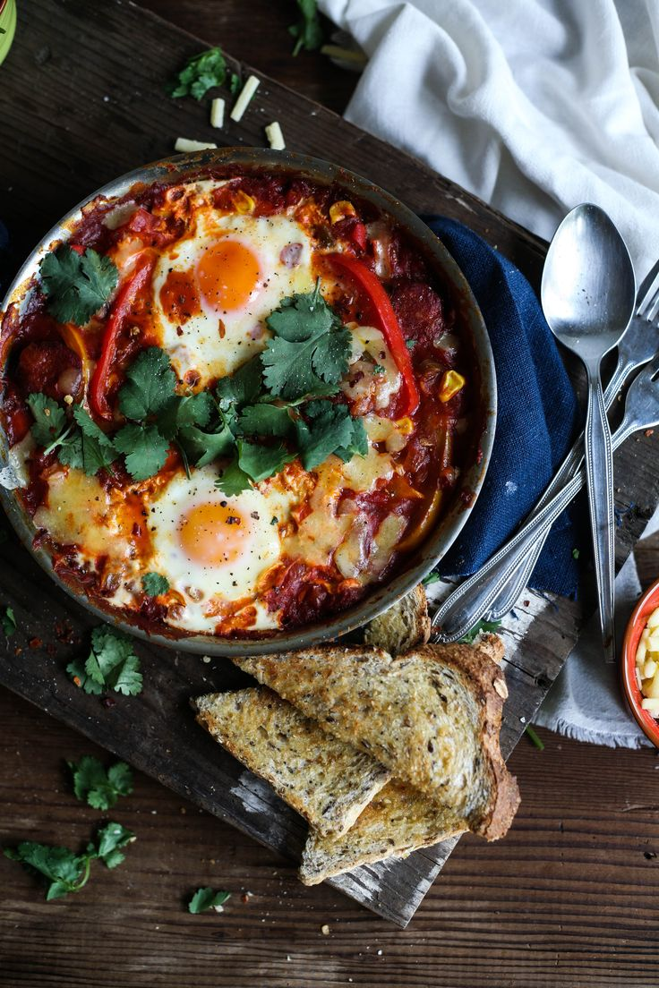 Smokey Mexican Baked Eggs
