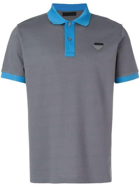 166498c6f1b Prada Contrast Trim Polo Shirt - Farfetch