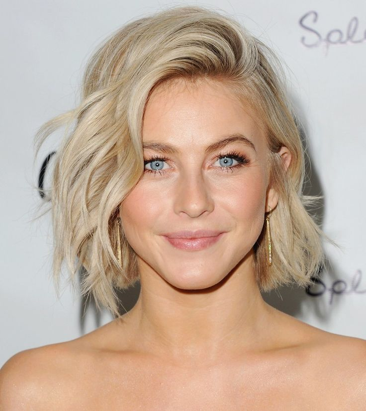 BRB, taking this photo of Julianne Hough's tousled bob to our stylist, stat.