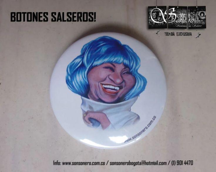 Foto: Boton Salsero - Celia Cruz