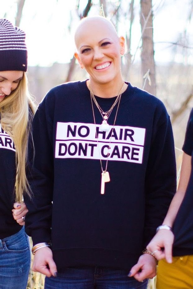 Womens No Hair Dont Care pullover - Join the cause! LHDC Clothing breast cancer awareness, #BreastCancerAwareness