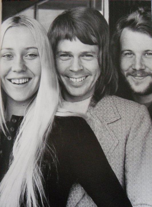 Anna,Björn and Benny in 1971-ménage á trois
