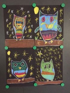 Cute owls in the night As you know, we are an owl class (inset: my car correction is not too bad with my owl class)