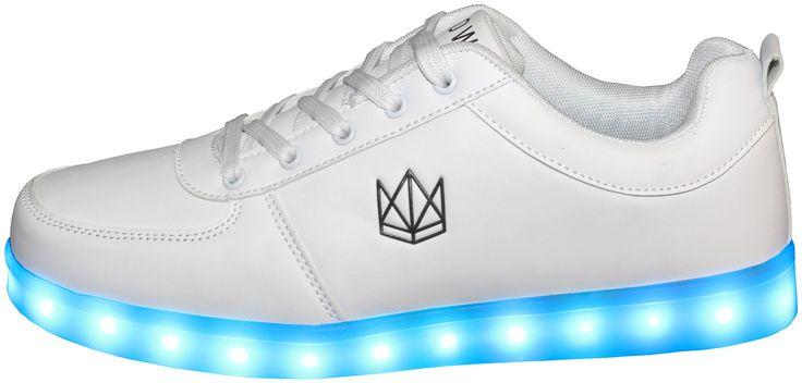 CROWN Classic White LED Schuhe Unisex Weiß: Amazon.de: Schuhe & Handtaschen