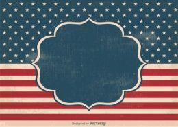Etiqueta de EE.UU. bandera del vintage